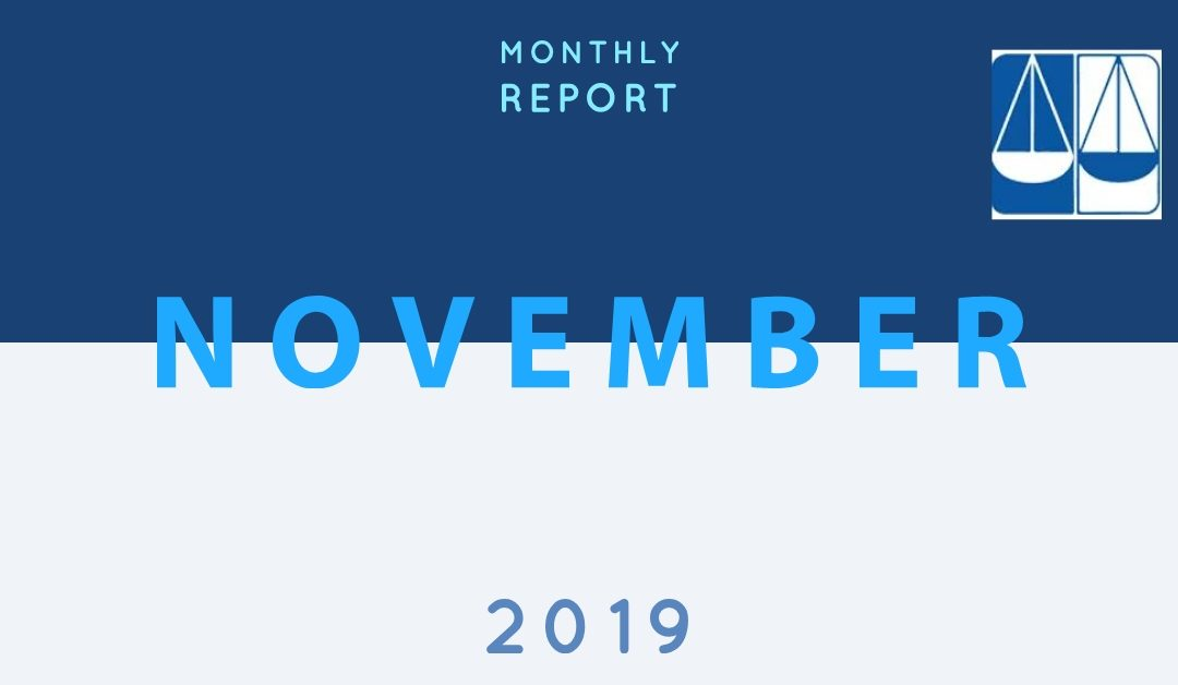 Lawyers for Justice monthly report, November 2019