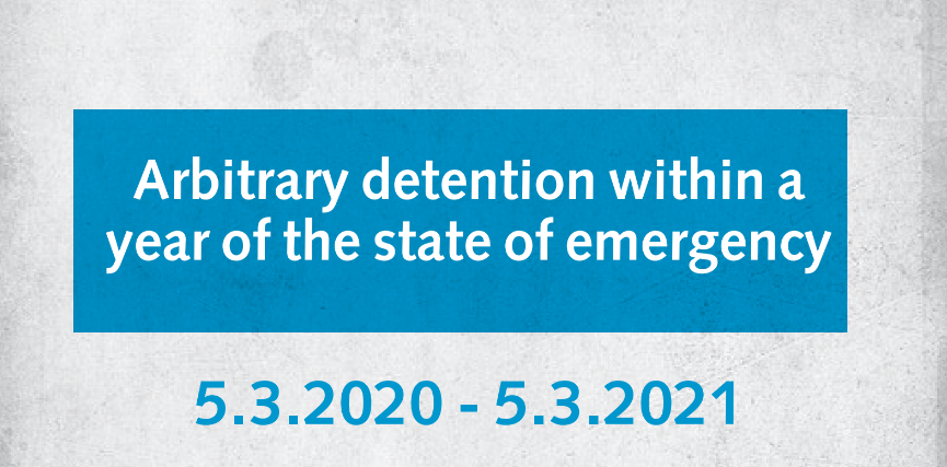 Arbitrary Detention within a year of the state of emergency report